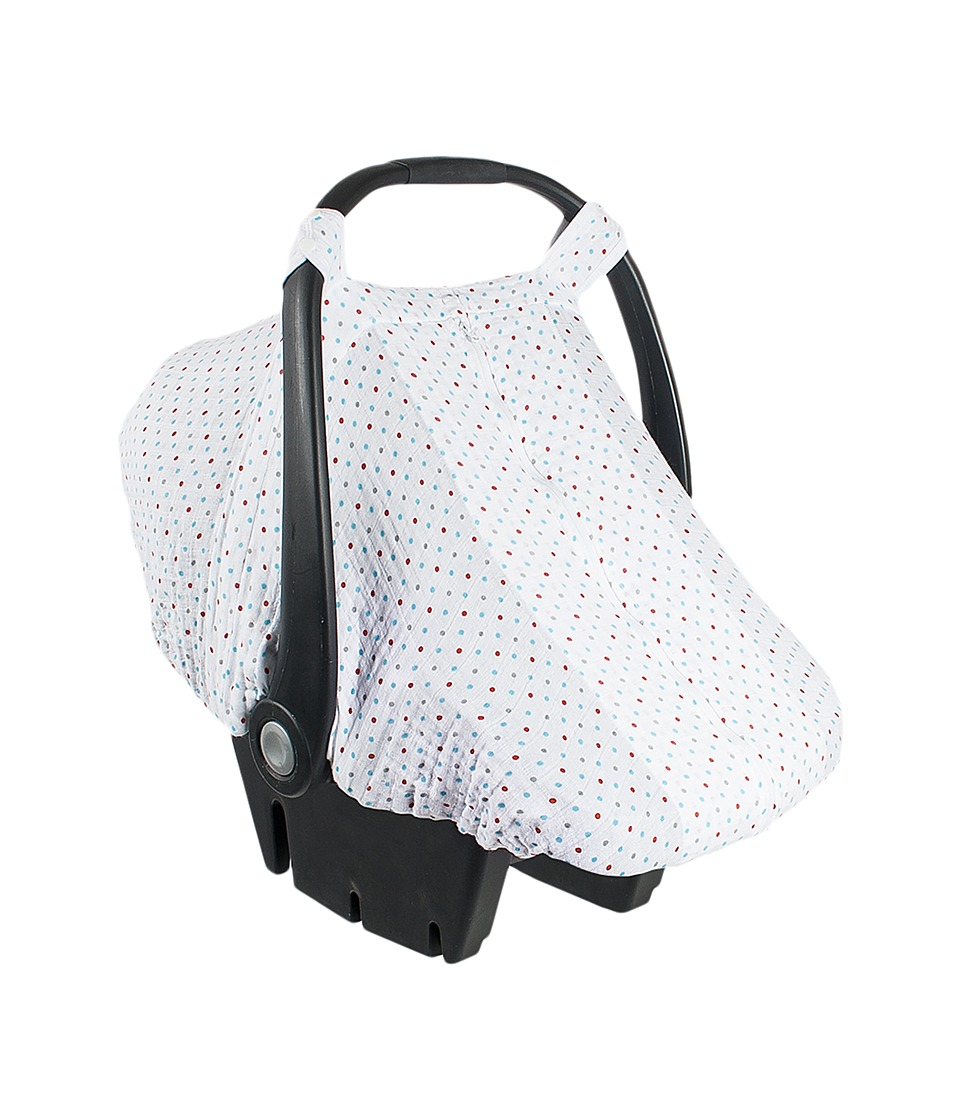 Bebe au Lait - Muslin Car Seat Cover (Polka) Accessories Travel
