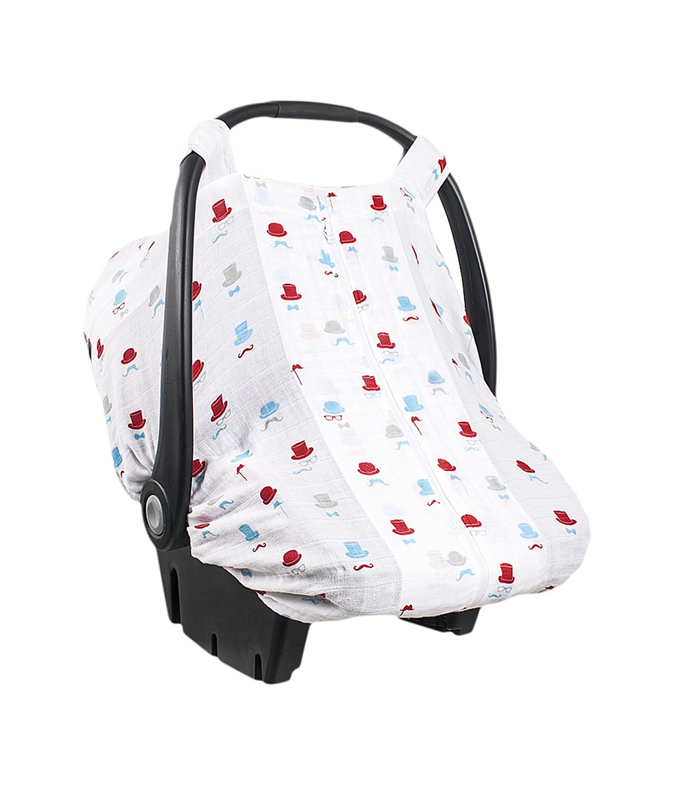 Bebe au Lait - Muslin Car Seat Cover (Bowler) Accessories Travel