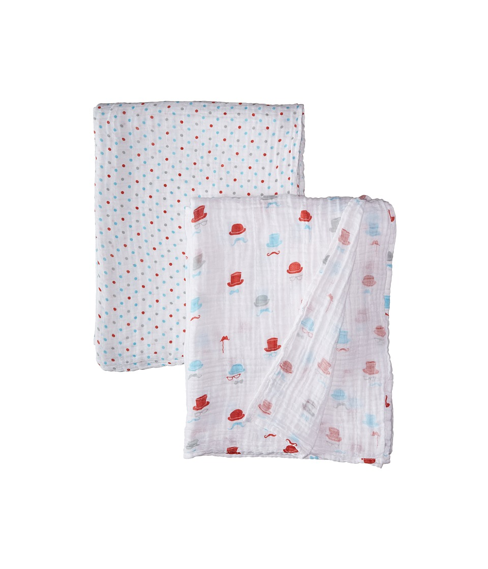 Bebe au Lait - Muslin Swaddles 2-Pack (Bowler/Polka) Accessories Travel