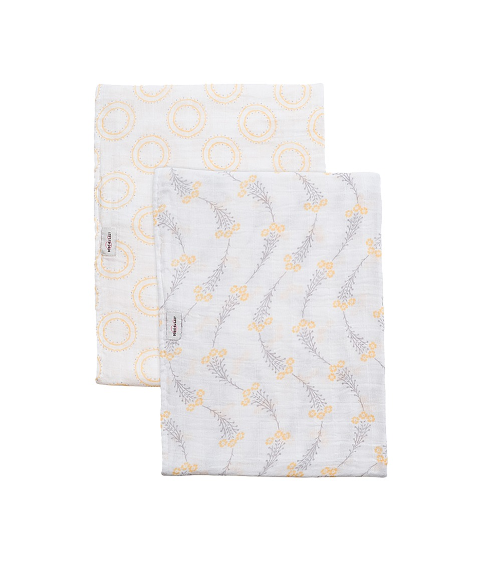Bebe au Lait - Muslin Swaddles 2-Pack (Wildflower/Halo) Accessories Travel