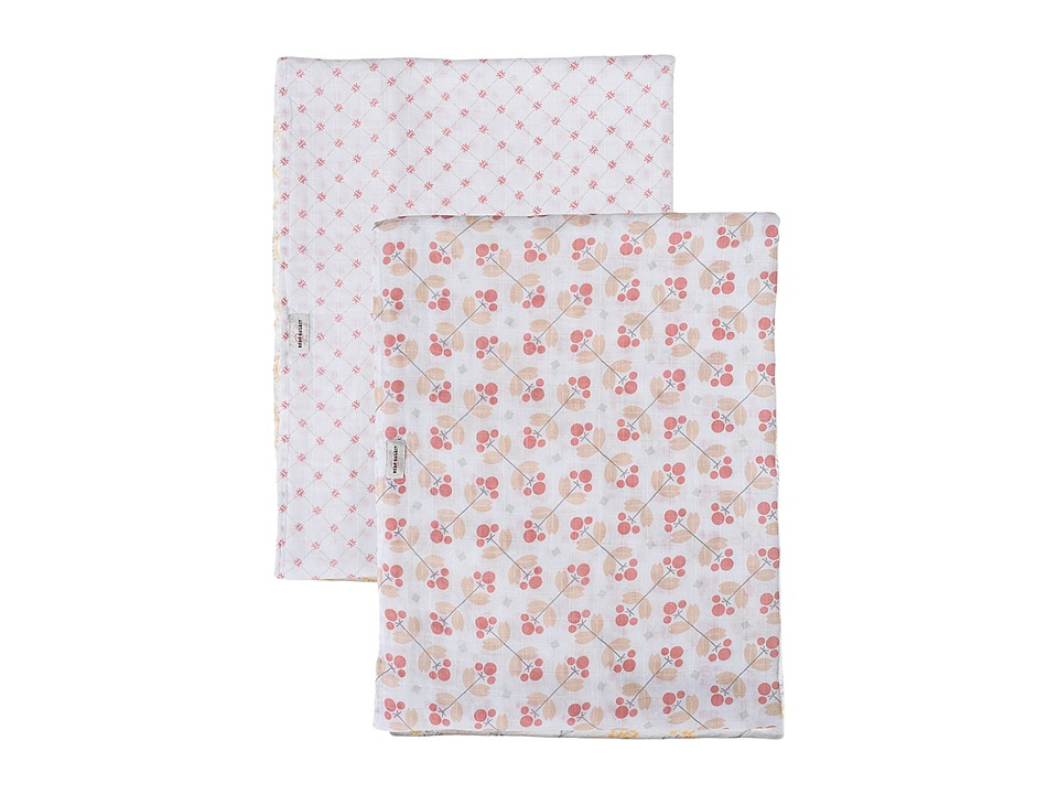 Bebe au Lait - Muslin Swaddles 2-Pack (Dewberry/Lattice) Accessories Travel