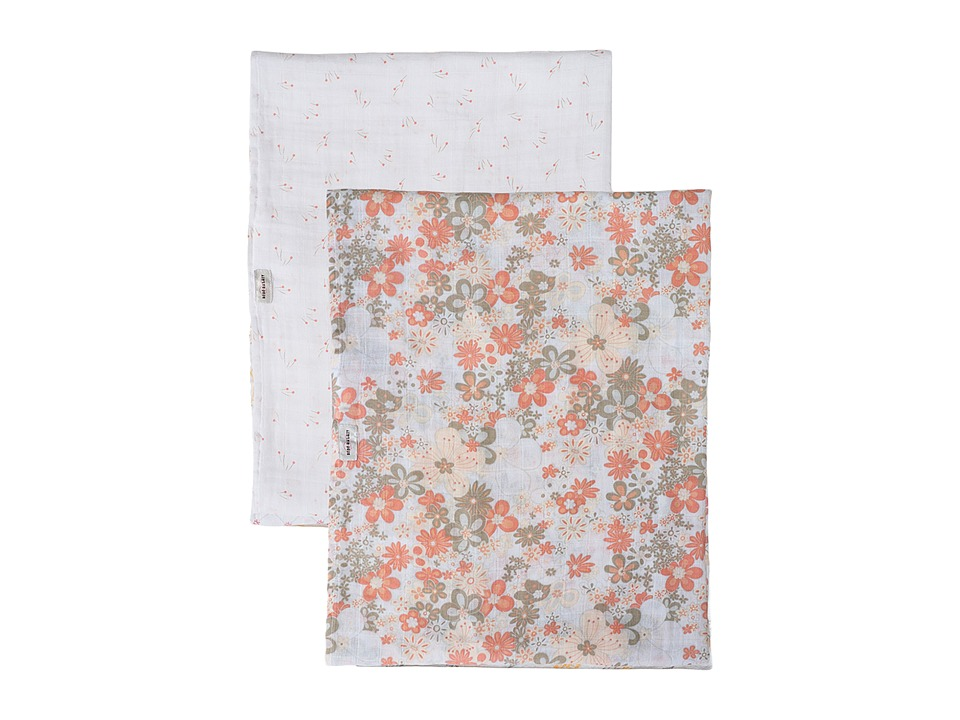 Bebe au Lait - Muslin Swaddles 2-Pack (Billy Buttons/Perky Perennials) Accessories Travel