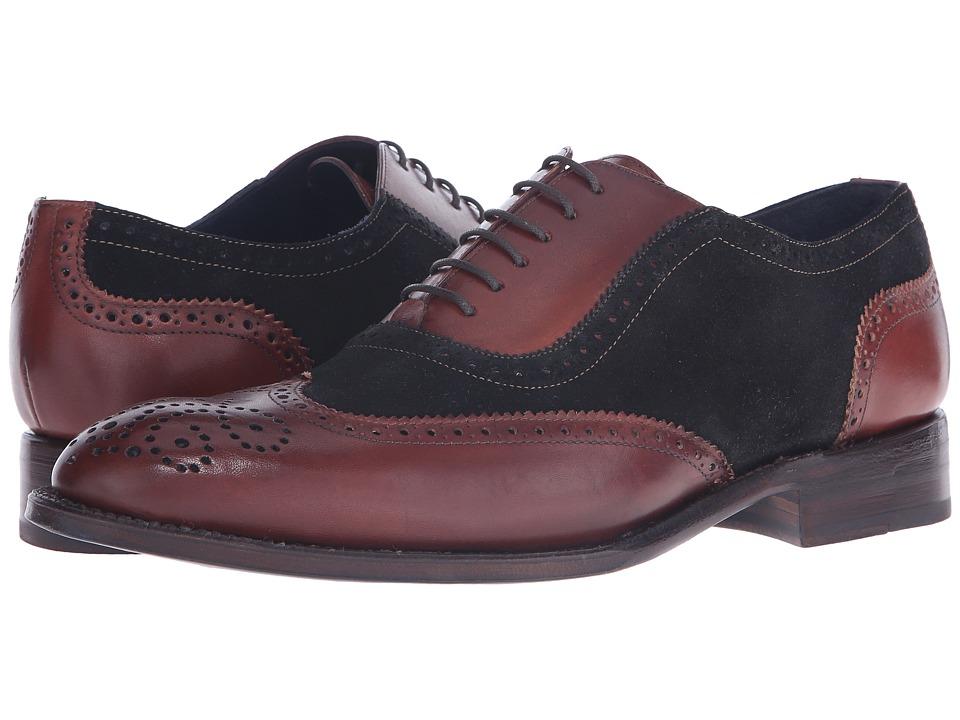 Messico Ferrucio Welt (Black Suede/Cognac Leather) Men