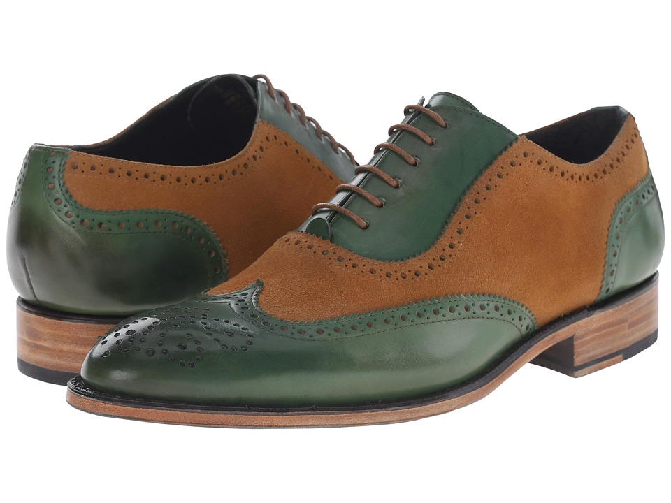 Messico - Ferrucio Welt (Honey Suede/Green Leather) Men's Shoes