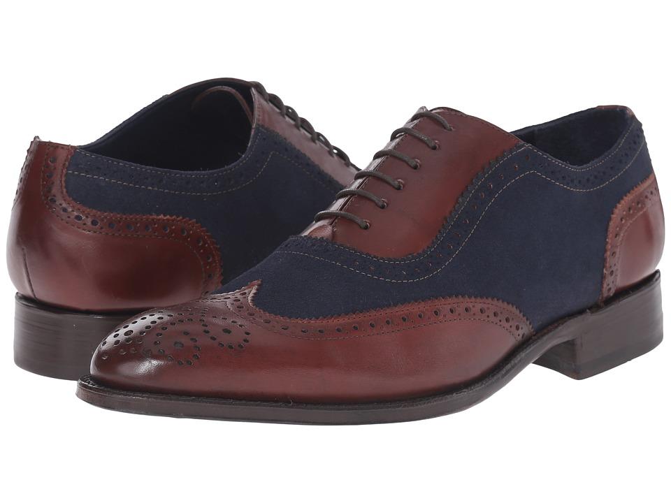 Messico - Ferrucio Welt (Blue Suede/Cognac Leather) Men's Shoes