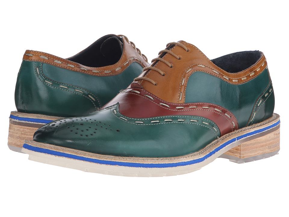 Messico - Emanuel (Green/Cognac/Yellow Leather) Men's Shoes