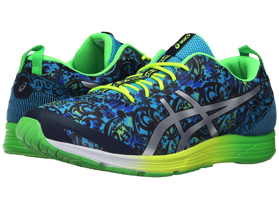 ASICS - GEL-Hyper Tri 2 (Dark Navy/Silver/Green Gecko) Men's Running Shoes