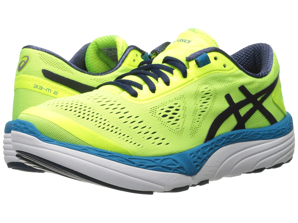 ASICS - 33-M 2 (Safety Yellow/Blue Print/Blue Jewel) Men's Running Shoes