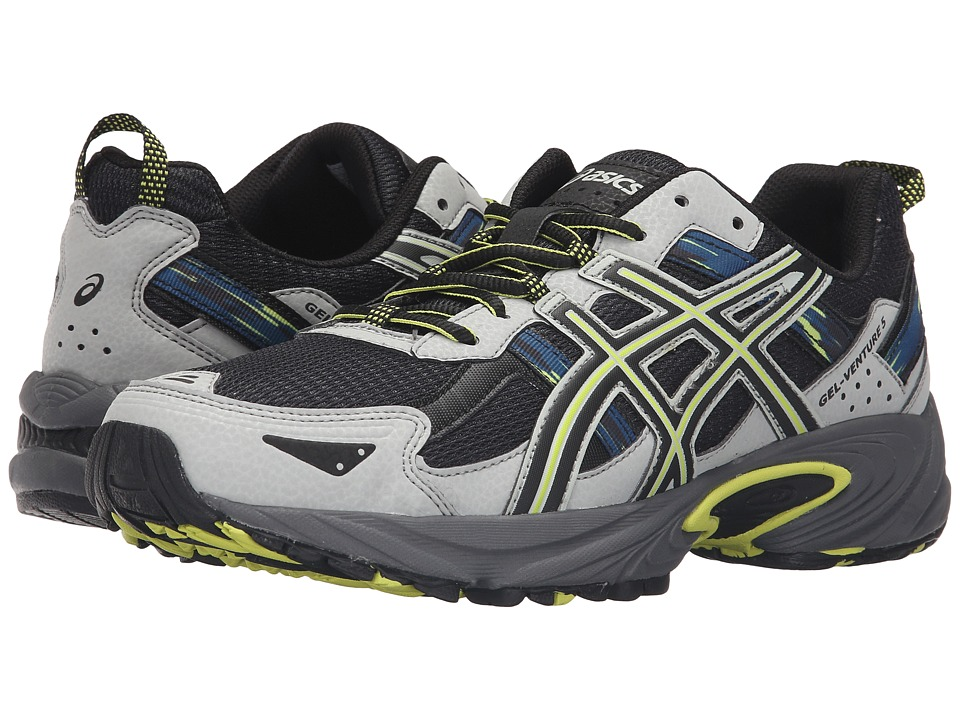 ASICS - Gel-Venture 5 (Dark Steel/Black/Neon Lime) Men's Running Shoes
