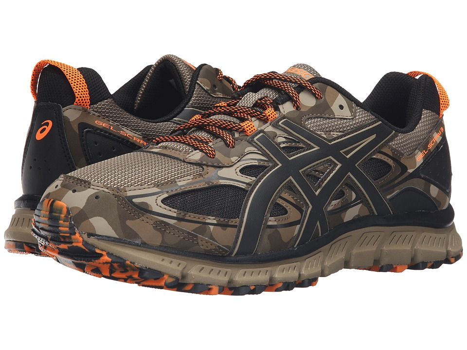 ASICS - Gel-Scram 3 (Light Brown/Black/Hot Orange) Men's Running Shoes