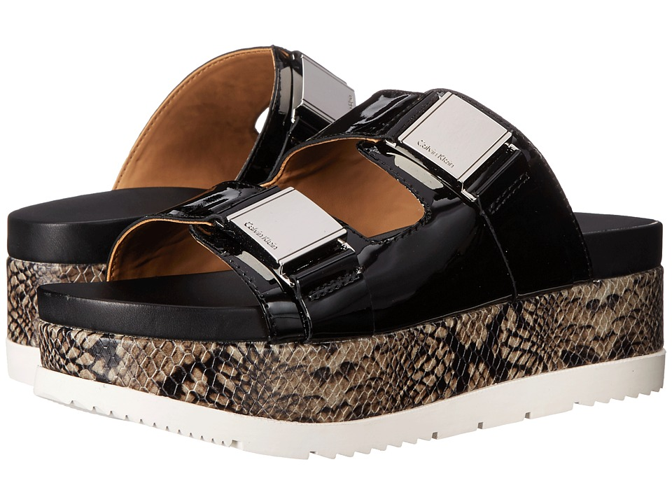 Calvin Klein Casely (Black Patent/Leather) Women
