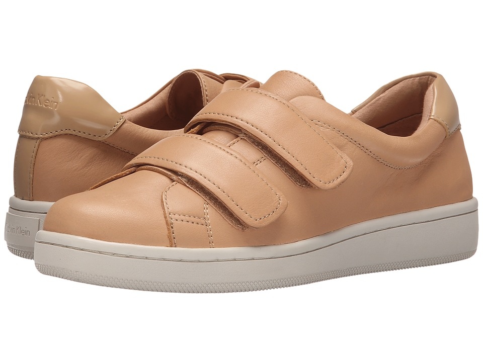 Calvin Klein - Divine (Blush Nude/Sandstorm Leather) Women's Hook and Loop Shoes