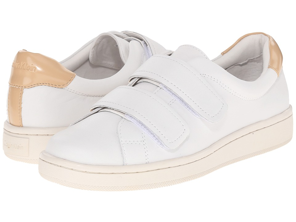 Calvin Klein - Divine (Platinum White/Sandstorm Leather) Women's Hook and Loop Shoes