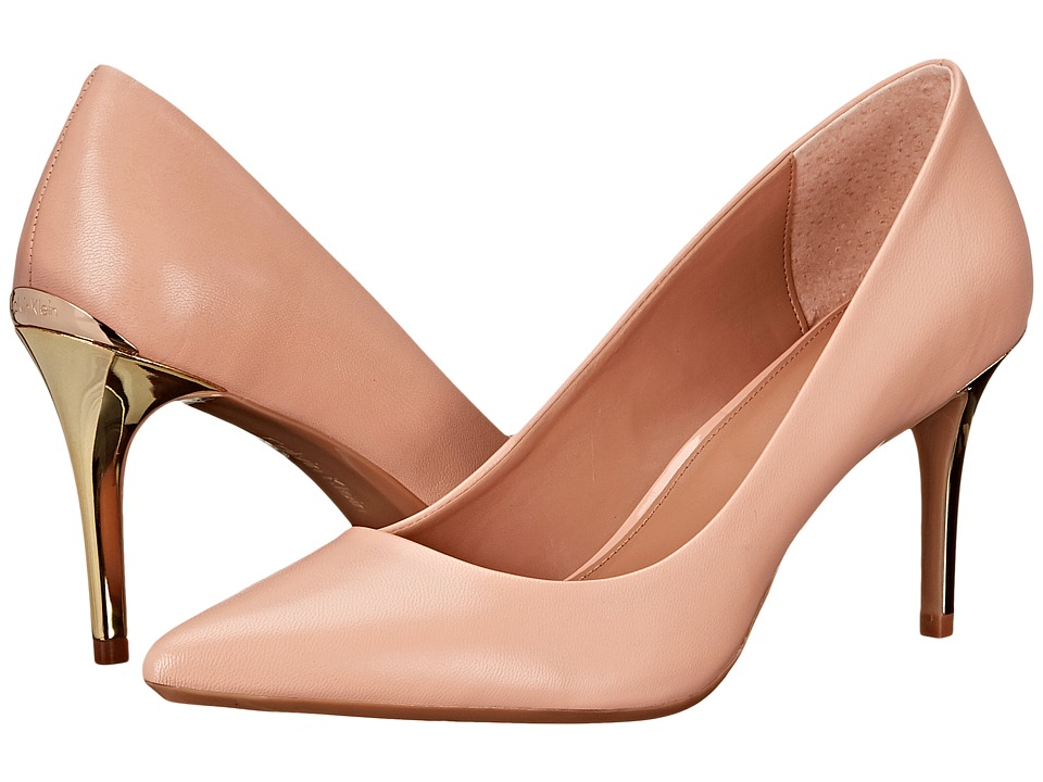 Calvin Klein - Gayle (Blush Nude Leather/Enamel) High Heels