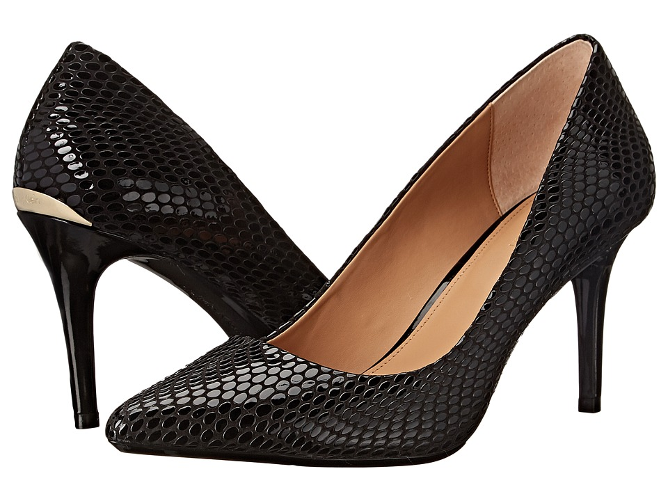 Calvin Klein - Gayle (Black Laquered Snake) High Heels