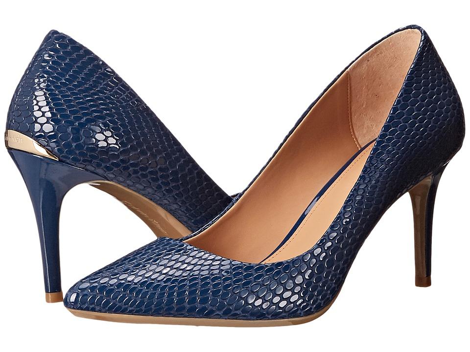 Calvin Klein - Gayle (Marine Laquered Snake) High Heels