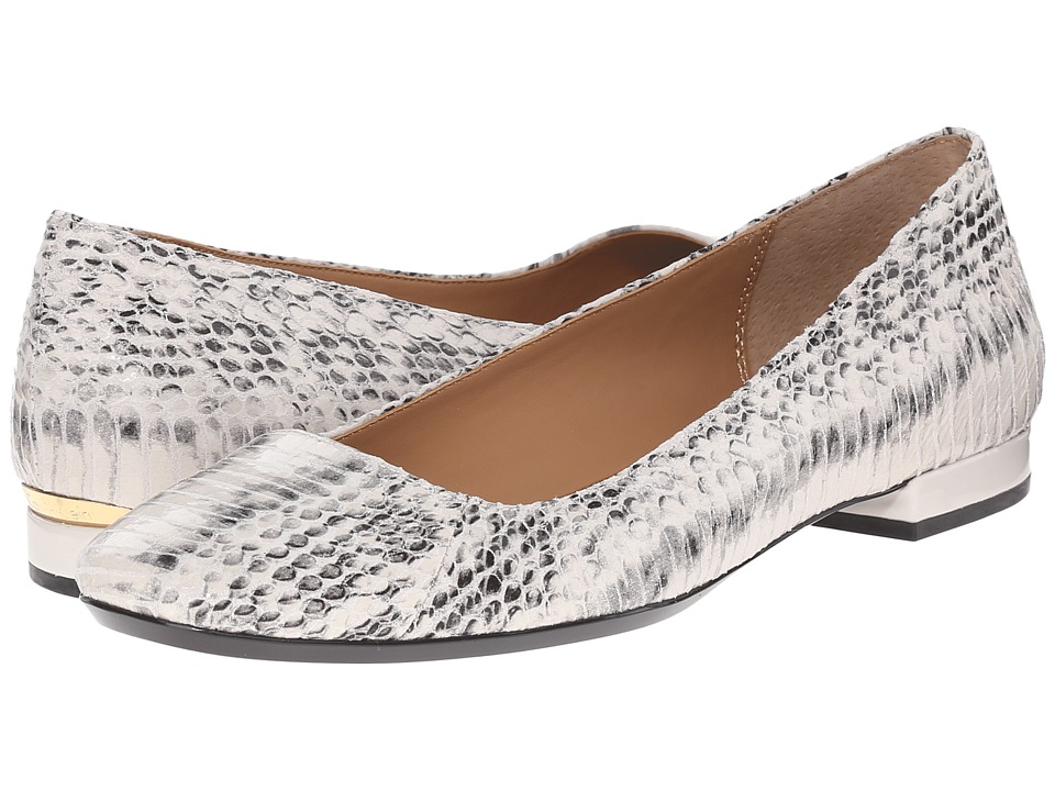 Calvin Klein - Felice (Soft White Muted Snake) Women's Flat Shoes