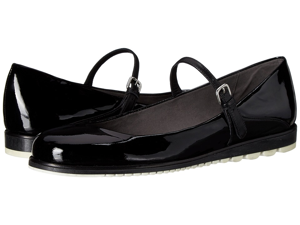 Stuart Weitzman Mary Jayne Black Patent Womens Maryjane Shoes