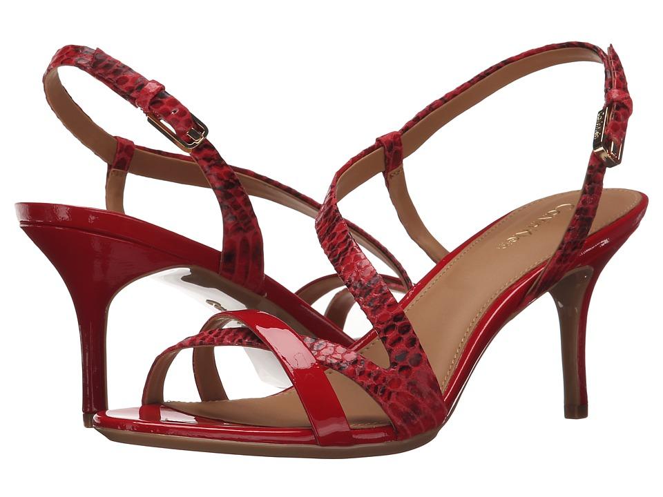 Calvin Klein Lorren (Lipstick Red Muted Snake/Patent) Women
