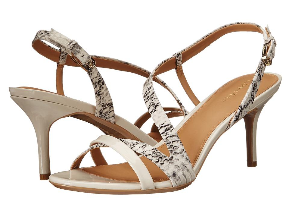Calvin Klein Lorren (Soft White Muted Snake/Patent) Women