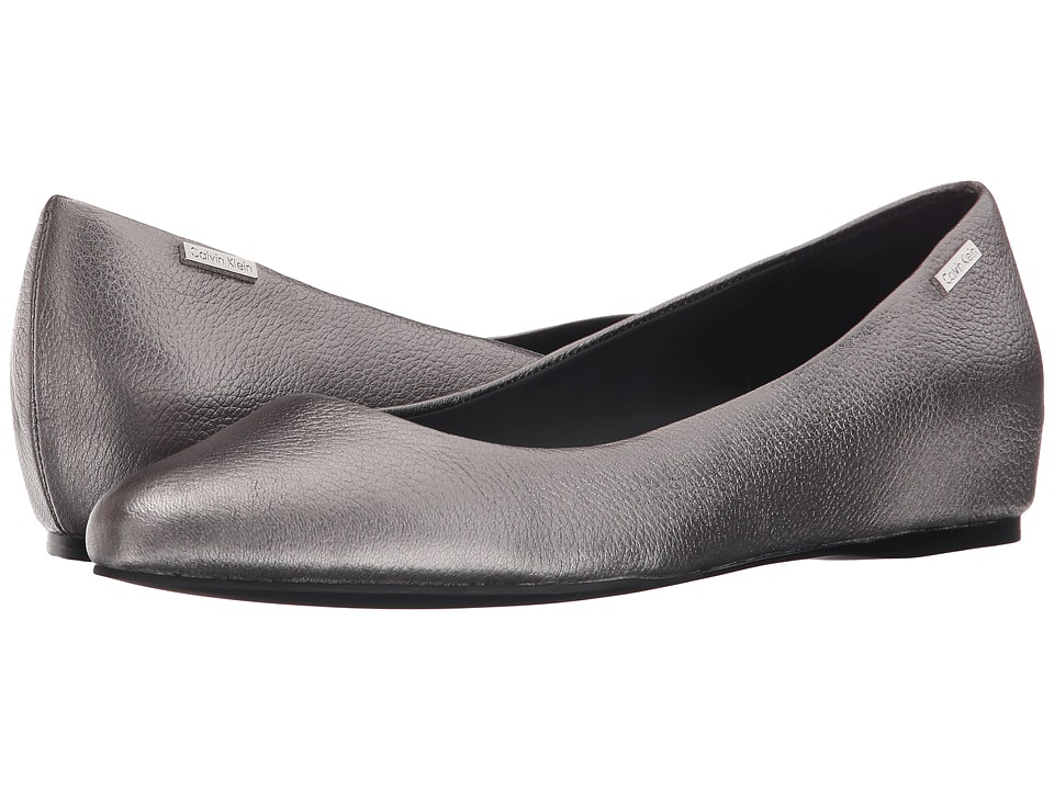Calvin Klein - Machia (Anthracite Metallic Grain Leather) Women