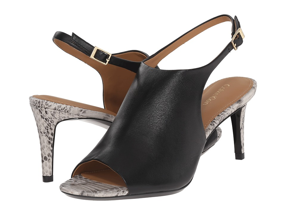 Calvin Klein - Lotty (Black Leather) High Heels