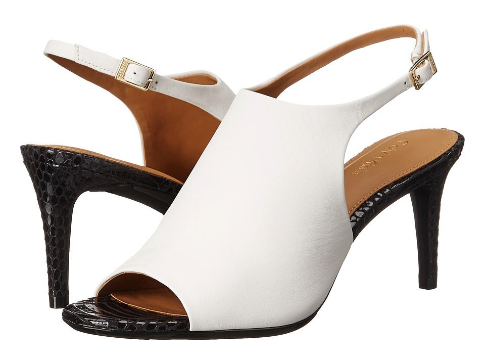 Calvin Klein - Lotty (Platinum White Leather) High Heels