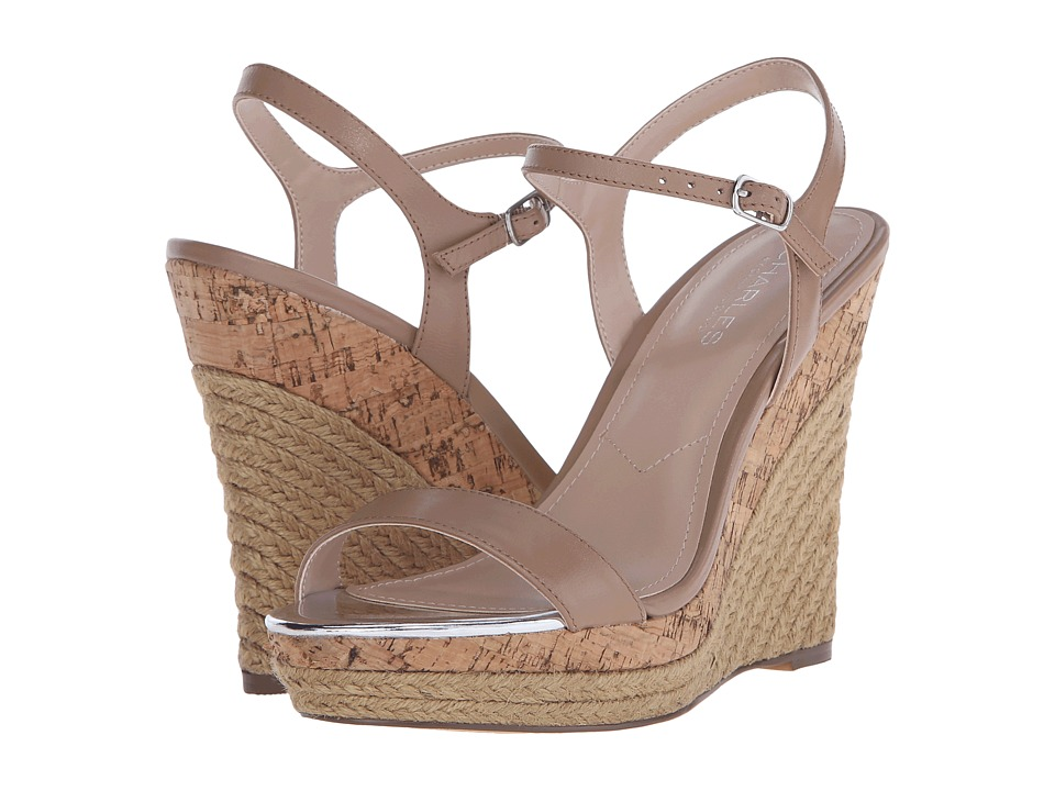 Charles by Charles David - Arizona (Nude Leather) Women's Wedge Shoes
