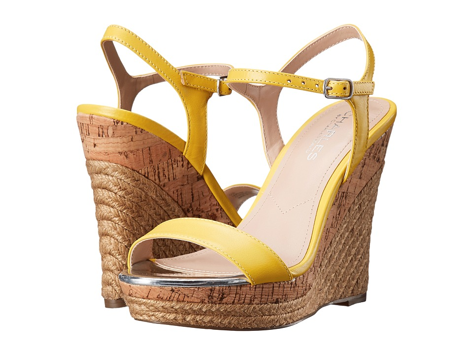 Charles by Charles David - Arizona (Yellow Leather) Women's Wedge Shoes