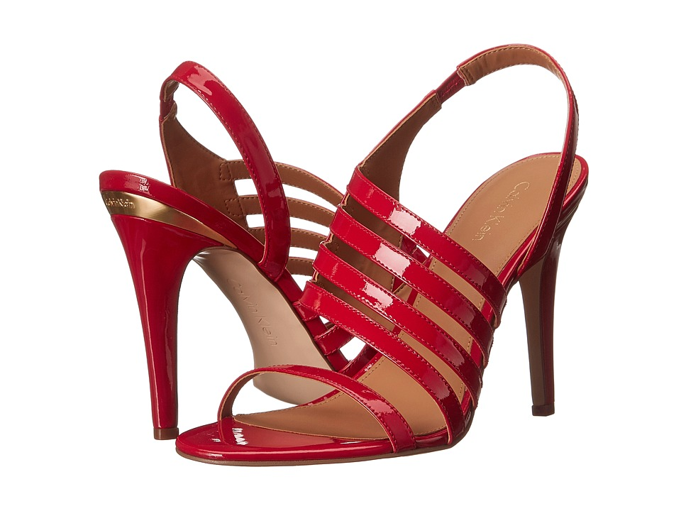 Calvin Klein Mirian (Lipstick Red Patent) High Heels