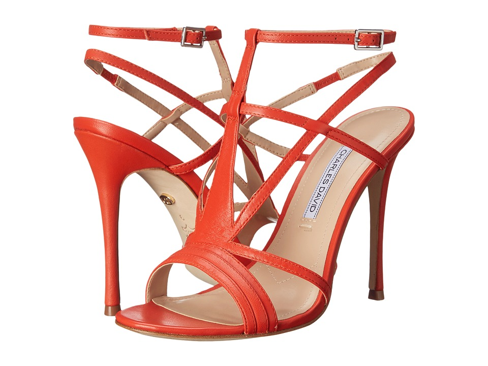 Charles by Charles David - Onia (Coral Red Leather) High Heels
