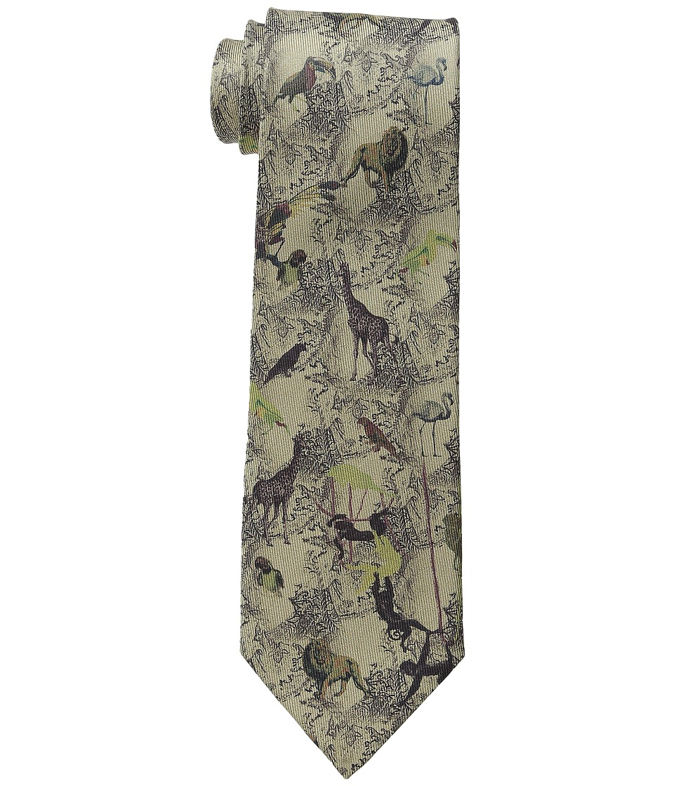 Etro - Jungle Pattern Regular Width Silk Tie (Multi) Ties