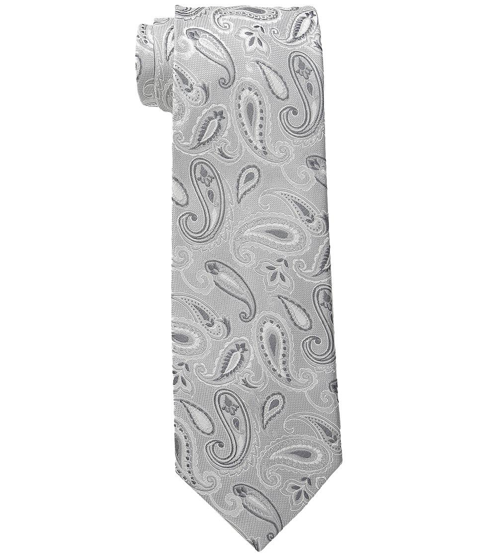 Etro - Paisley Pattern Regular Width Silk Tie (Black Paisley) Ties