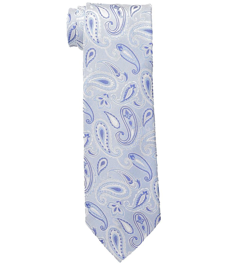 Etro - Paisley Pattern Regular Width Silk Tie (Blue Paisley) Ties