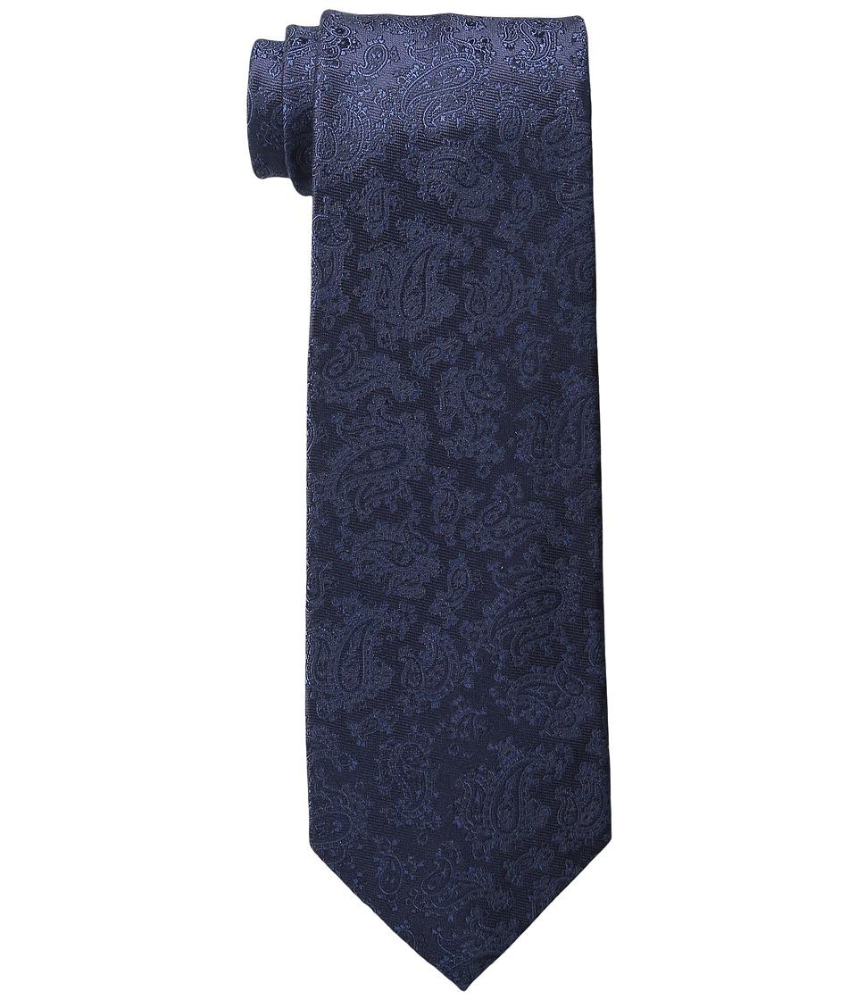 Etro - Paisley Floral Regular Width Silk Tie (Blue Floral) Ties