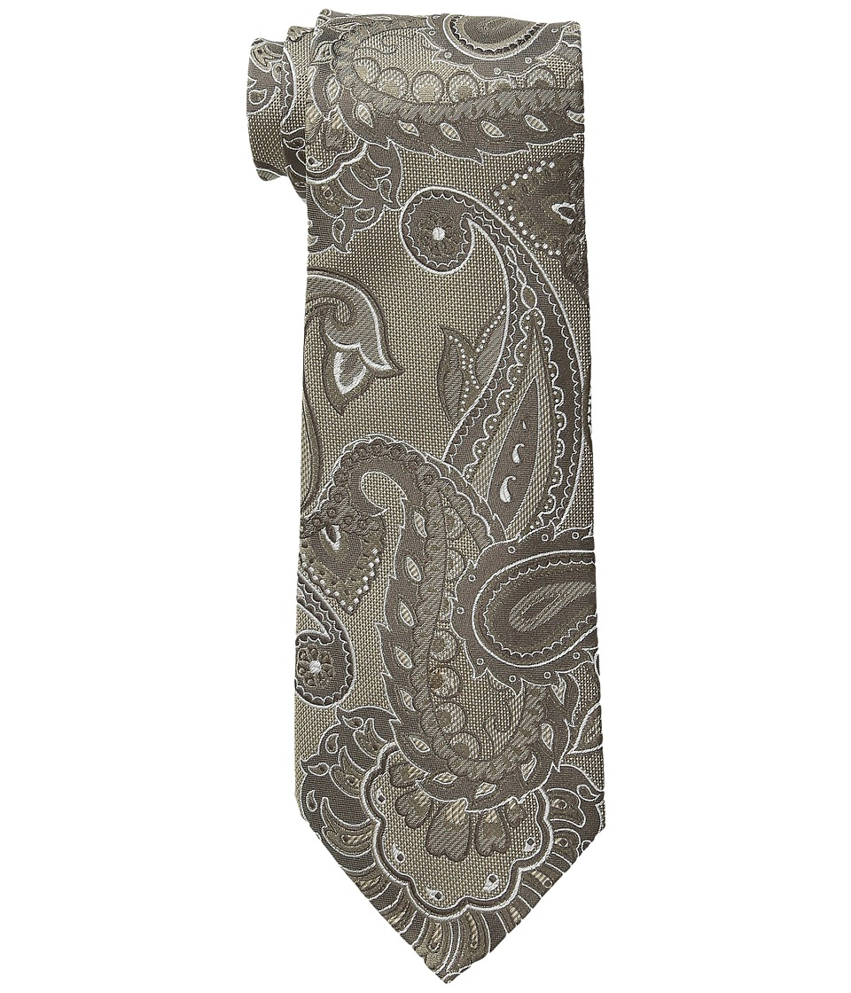 Etro - Paisley Pattern Regular Width Silk Tie (Brown) Ties