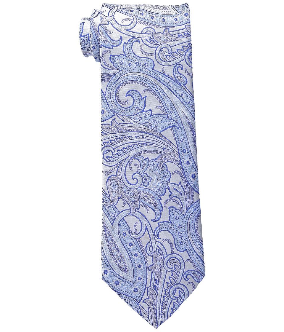 Etro - Glossy Paisley Regular Width Silk Tie (Sky Paisley) Ties