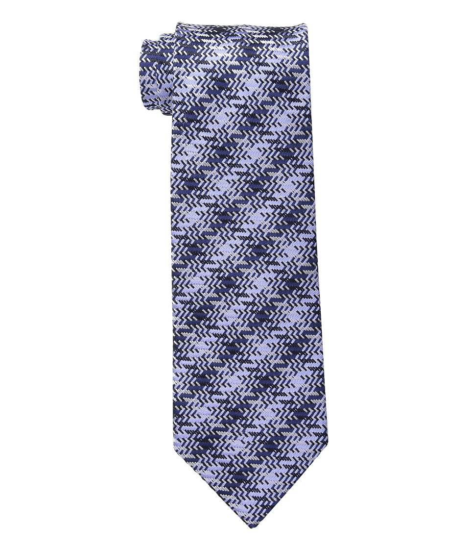 Etro - Cross Stitch Regular Width Silk Tie (Navy) Ties