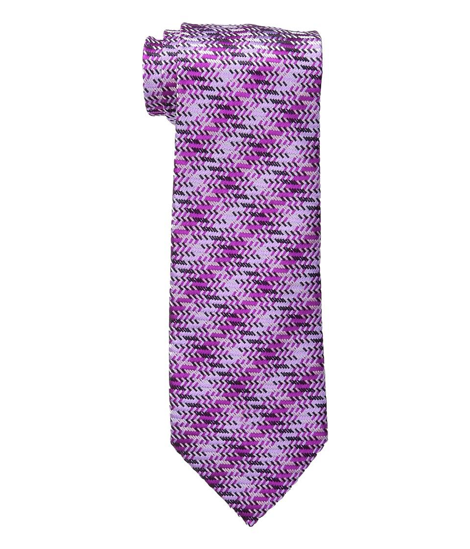 Etro - Cross Stitch Regular Width Silk Tie (Pink) Ties