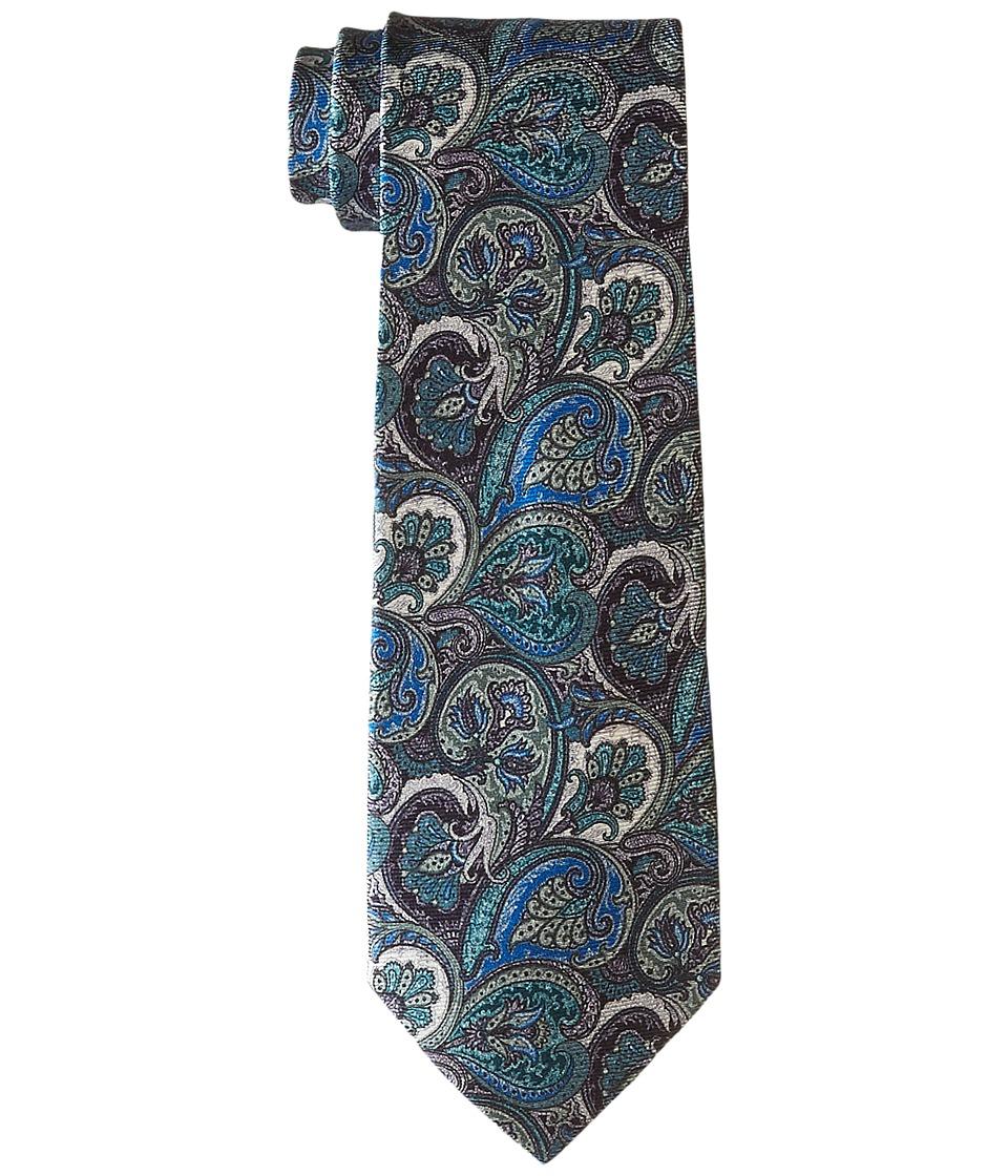 Etro - Paisley Pattern Regular Width Silk Tie (Blue) Ties
