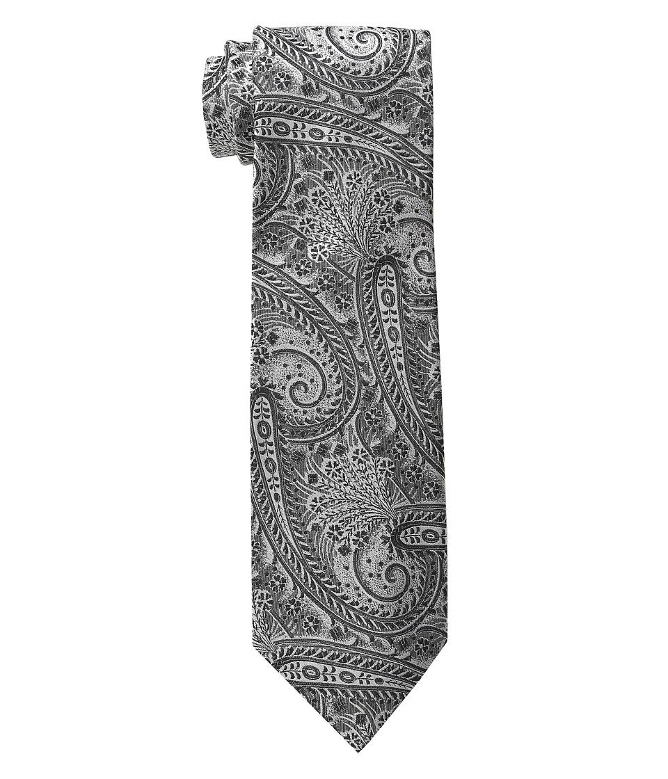 Etro - Regular Width Paisley Print Silk Tie (Black) Ties