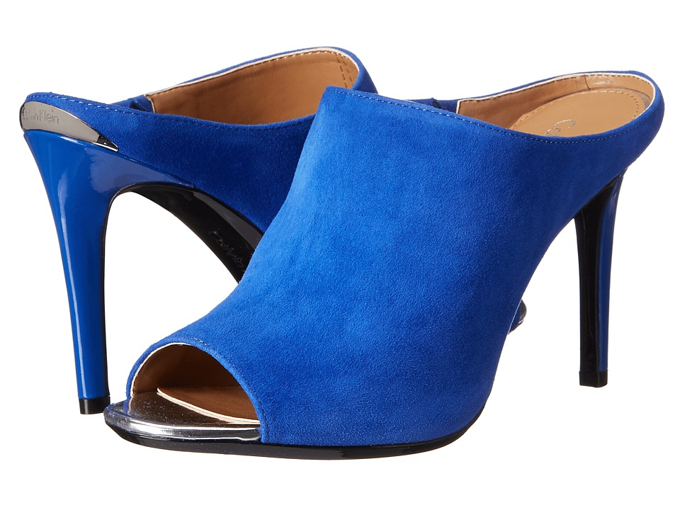 Calvin Klein - Nariss (Fearless Blue Kid Suede) High Heels