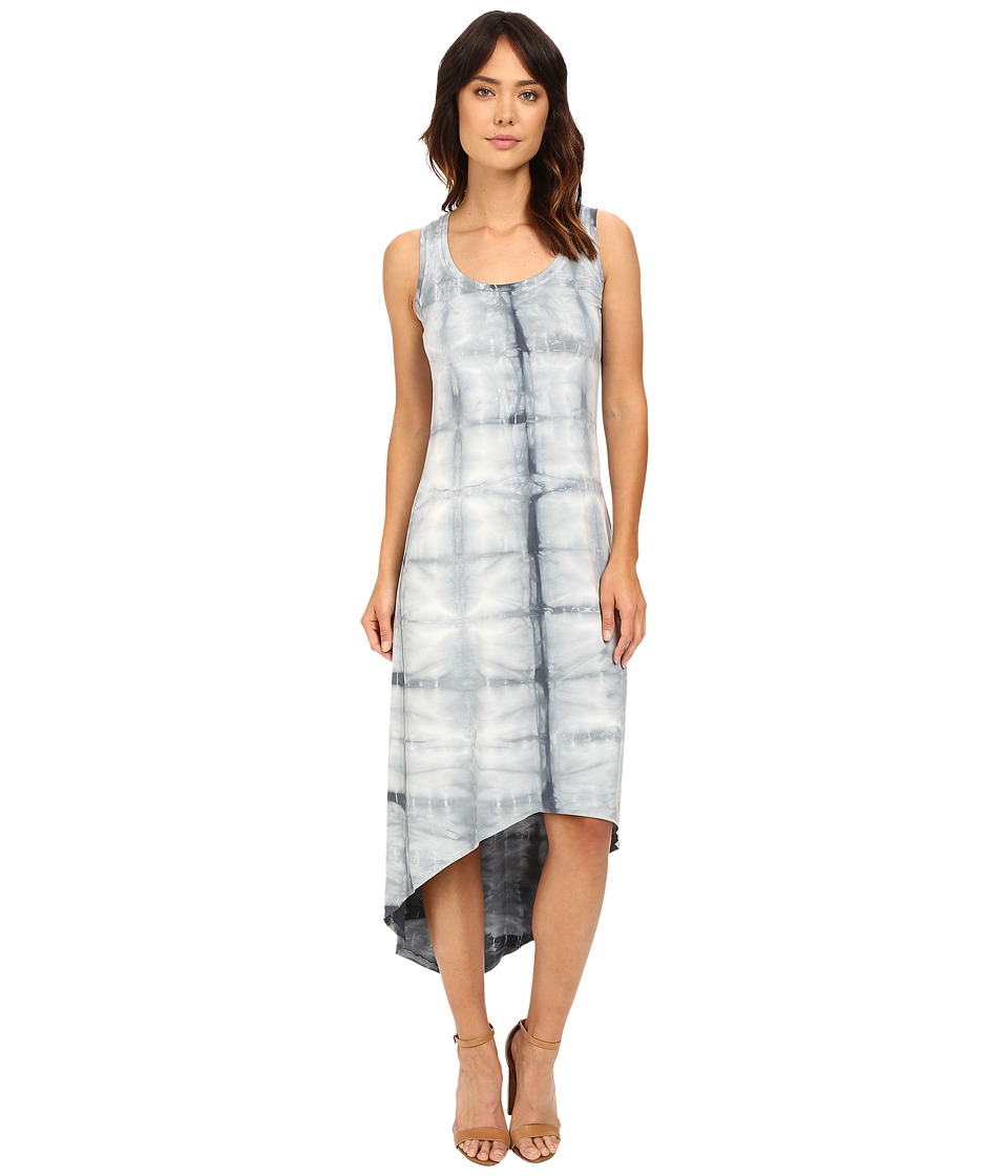 Fresh Produce - Block Tile Hilo Maxi Dress (Charcoal Gray) Women's Dress
