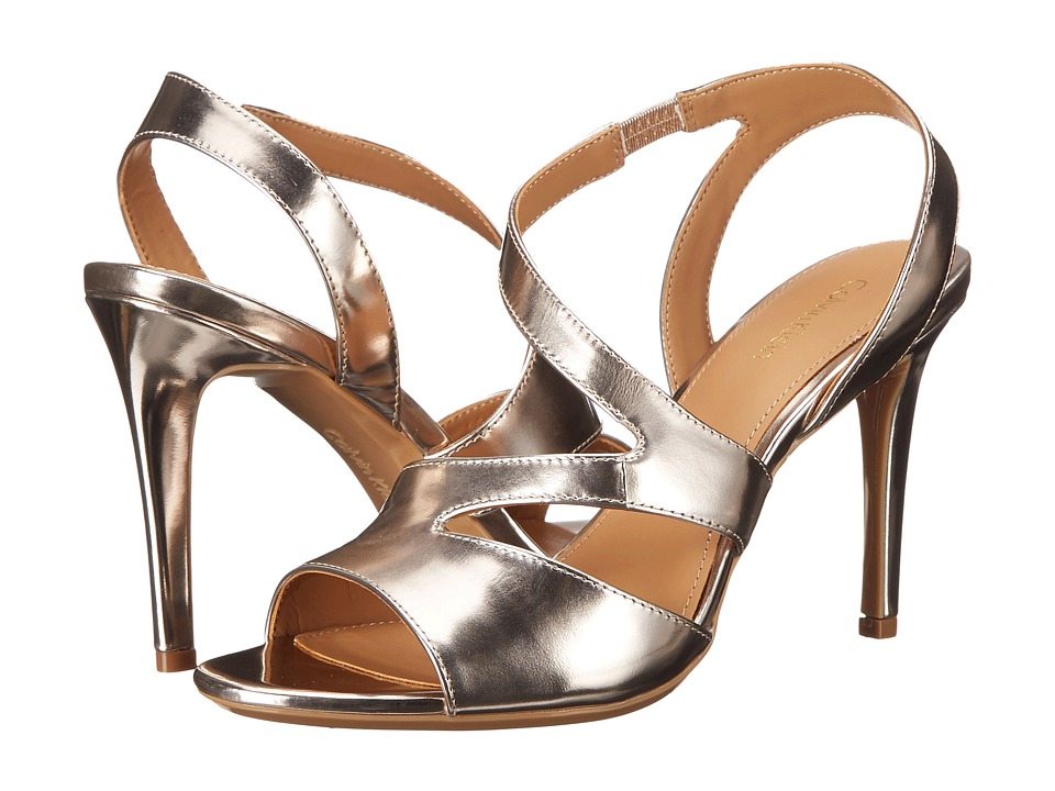 Calvin Klein - Niobe (Platinum Box Metallic Leather) High Heels