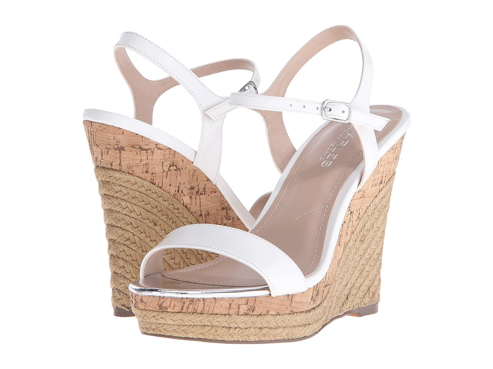 Charles by Charles David - Arizona (White Leather) Women's Wedge Shoes