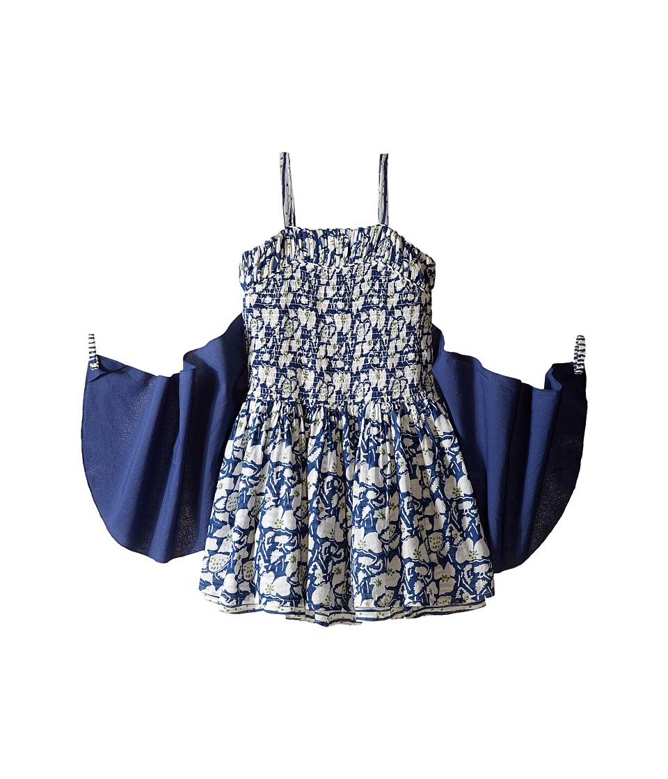 Stella McCartney Kids - Bonny Floral Dress with Detachable Wings (Toddler/Little Kids/Big Kids) (Blue) Girl's Dress