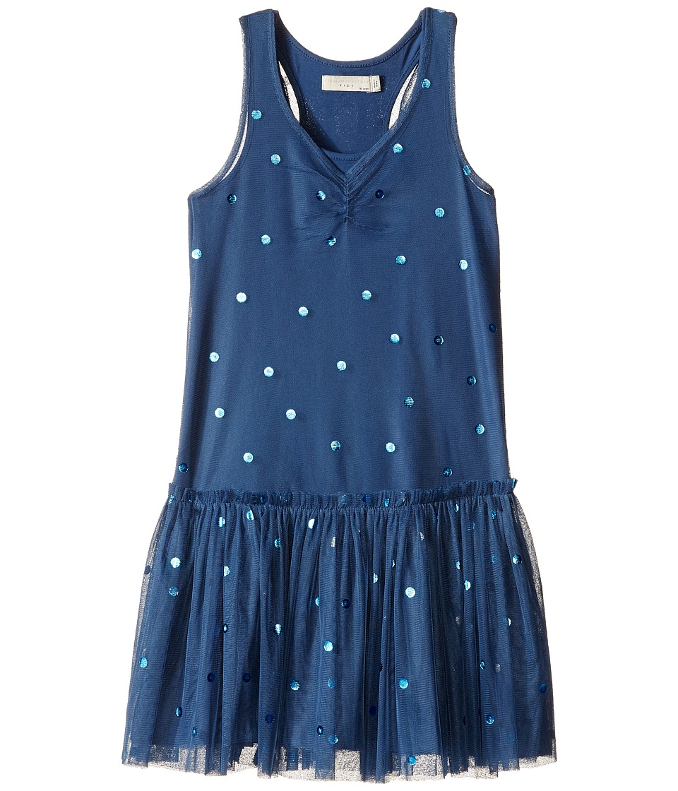 Stella McCartney Kids - Bell Polka Dot Tulle Dress (Toddler/Little Kids/Big Kids) (Blue) Girl's Dress