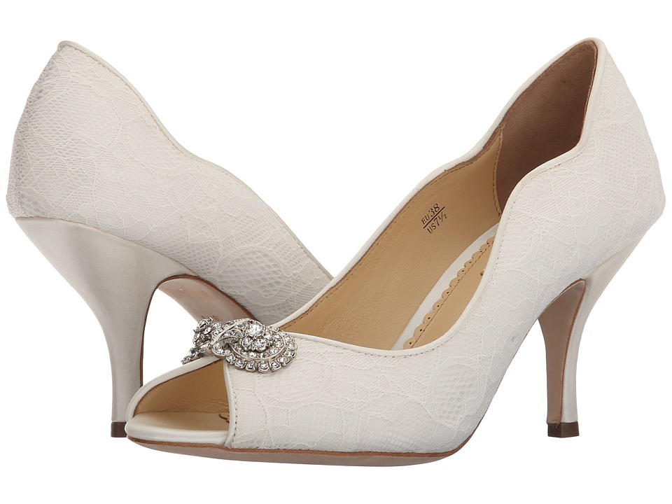 Benjamin Adams London - Dakota (Ivory Duchesse Silk/Lace) Women's Shoes