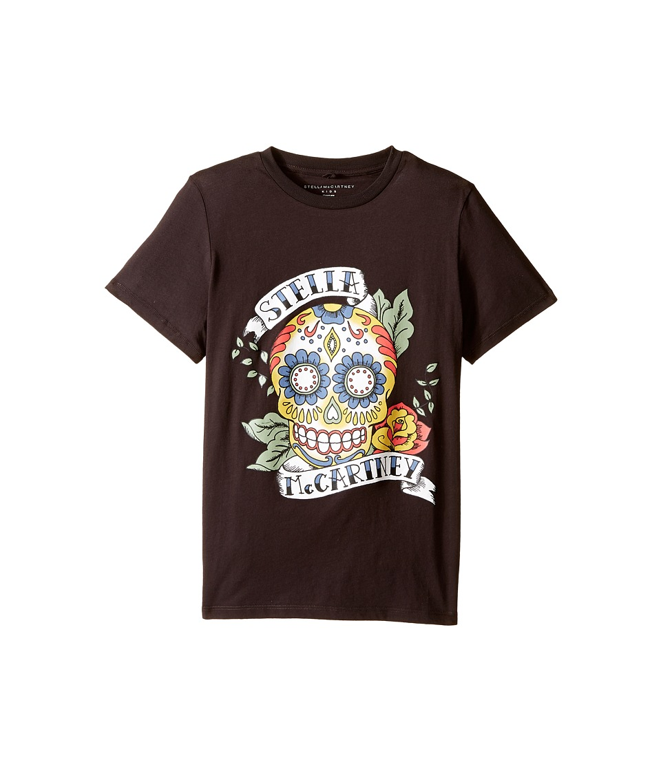 Stella McCartney Kids - Arlo Short Sleeve Stella Skull Tee (Toddler/Little Kids/Big Kids) (Charcoal) Boy's Short Sleeve Pullover