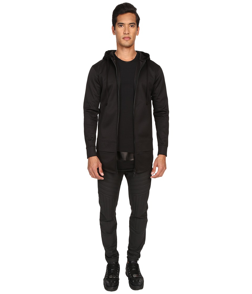 Pyer Moss - Jeremy Hooded Mesh Sweatshirt (Black) Men's Sweatshirt